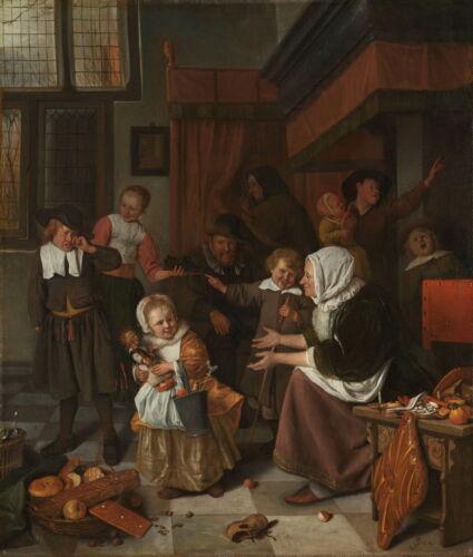 Jan Havicksz Steen The Feast of St Nicholas Giclee Canvas Print Paintings Poster
