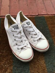 23552bffc00 Image is loading Womens-Or-Mens-Converse-Trainers-White-Ox-Dainty-