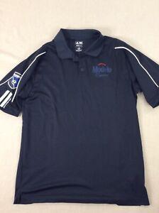 Adidas-Climalite-Polo-Shirt-Golf-Tennis-Black-Modelo-Beer-Soccer-Shirt-Mens-M-SS