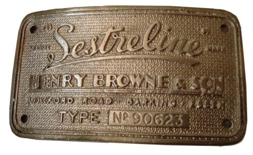 Plaque 5128 NAUTICAL SESTREL Marine WOODEN BINNACLE Builder/'s Plate
