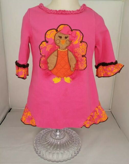 Emily Rose NWT Girls Size 6 Boutique Thanksgiving Turkey Fall Tunic Outfit