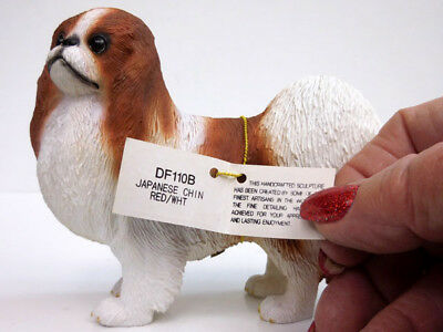 JAPANESE CHIN ITEM DF110B STANDING  CONVERSATION CONCEPTS RED//WHITE