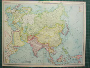 1921 large map asia political arabia india china india japan image is loading 1921 large map asia political arabia india china gumiabroncs Image collections