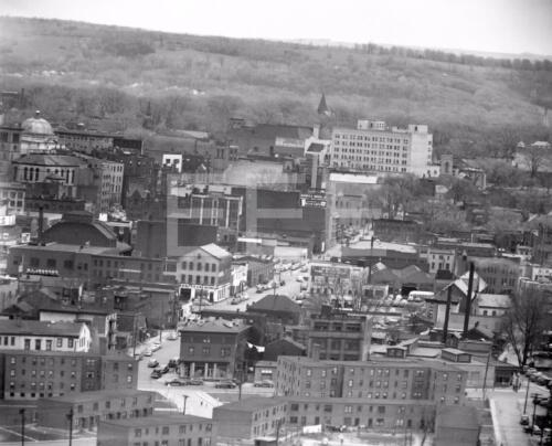 1950s Utica NY Aerial View 8x10 to 16x20 Movie Photo Canvas BG39