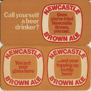 200 x Newcastle Brown Ale  Beer Mats new
