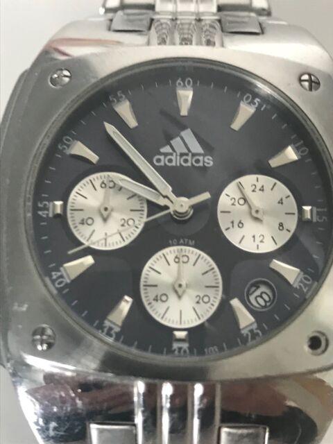 Adidas Herren Uhr, Chronograph, Edelstahl, dunkelblaues Zifferblatt