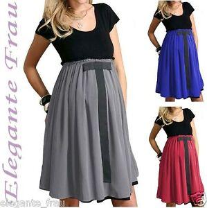 Umstandskleid Abendkleid Rock Chiffon Schickes Elegantes Kleid Modern Shirt Kle Ebay
