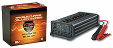 SLR60 12V 60Ah SLA AGM DEEP CYCLE BATTERY + VMAX 15Amp 7 Stage Smart Charger