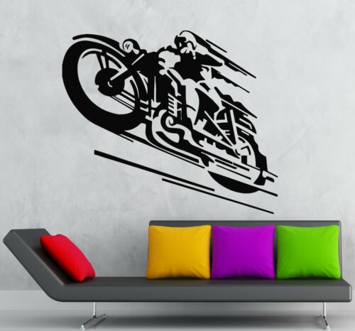 Wall Stickers Vinyl Decal Motorcycle Racer Sports Cool Decor ig522