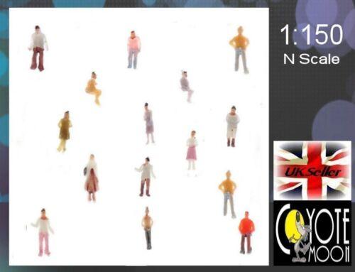 50 pcs Painted figures Model Train Layout Building Architecture N Scale 1:150 UK