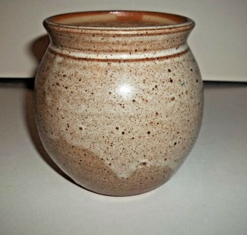 Handcrafted Signed Pottery Stoneware Honey Pot Jar With Cork Lid