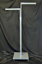 Two(2) Clothing Rack Two Way 2 Straight Arms 2 Clothes Adjustable Retail Display