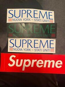 SEALED Sticker Pack SUPREME FW20 BOGO, Verify /& Nuova York