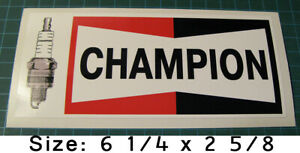 VINTAGE-CHAMPION-SPARK-PLUGS-VINYL-STICKER-DECAL-SCCA-NASCAR-RACING-TOOL-BOX