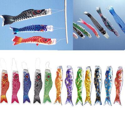 Koi Fahne Koi Nobori Karpfen Flagen Windsack Segelfisch Fischwind Blau 100cm
