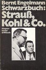BERNT ENGELMANN Schwarzbuch: Strauß, Kohl & Co. TB