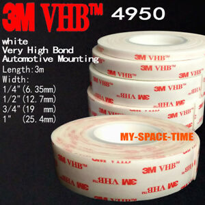 3M-VHB-4950-Double-sided-Acrylic-Foam-Adhesive-Tape-Automotive-3-Meters-Long