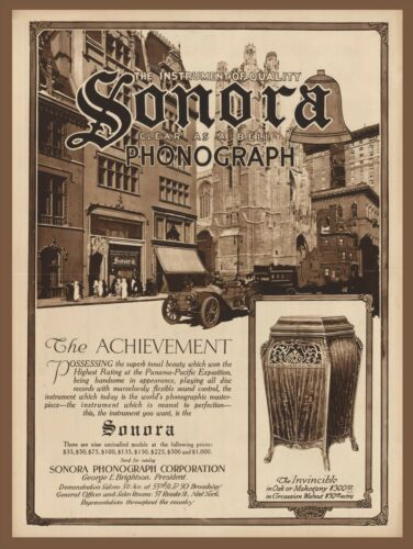 Old Phonograph Advertisement 1916 NY Times Ad Vintage print Great Home decor