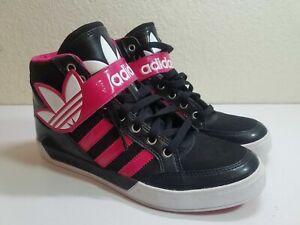 Que agradable Descuidado aliviar  ADIDAS Men's Black / Pink High Top Shoes Size 6.5 / W8.5 EVH 791004 | eBay