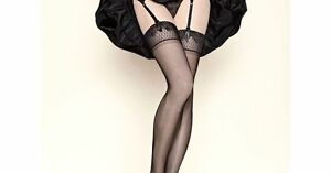 2e842fe10 Gerbe Paris Stay-up hosiery sheer mat Thigh-Highs floral lace ...