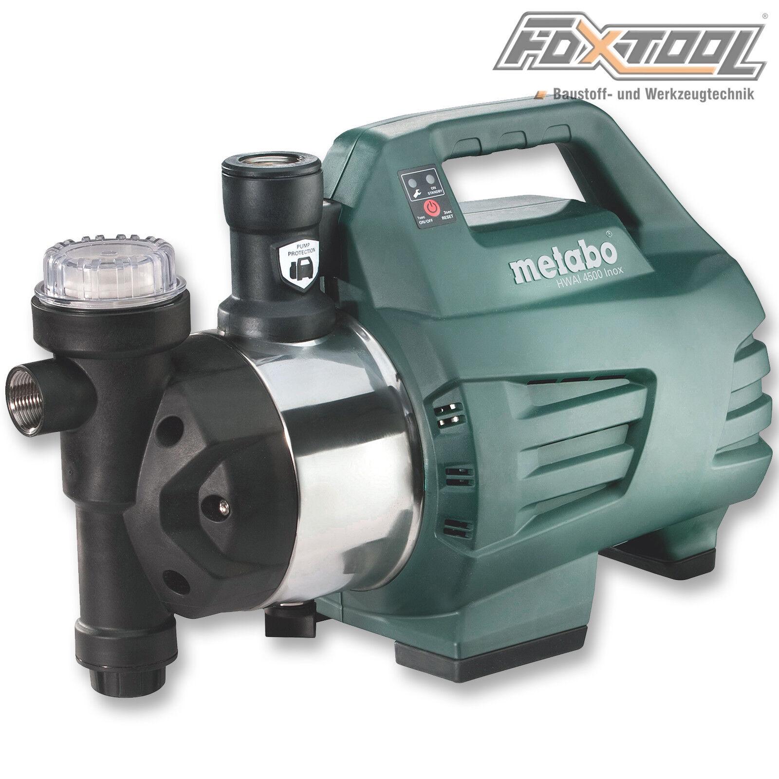 Metabo Hauswasserautomat HWAI 4500 Inox  Edelstahl