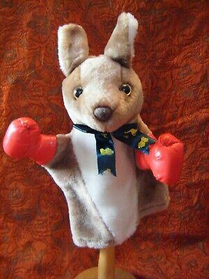 """Marionnetten Actief Australian Boxing Kangaroo Hand Puppet 10"""" Approx Vgc"""
