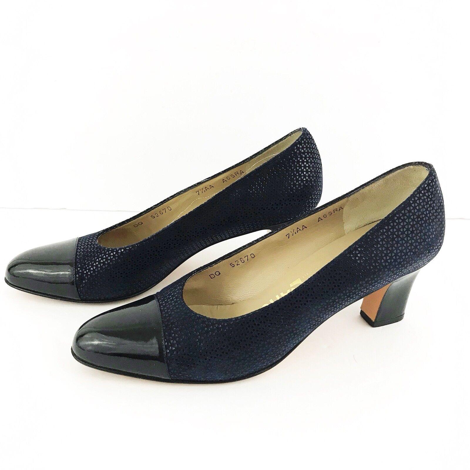 Salvatore Ferragamo bleu or Chaussures Femmes Escarpins Taille 7AA