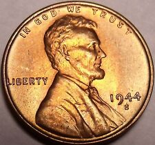 United States 1944-S Unc Lincoln Wheat Cent~Free Shipping