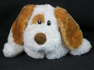 2003 BROWN WHITE WISH PETS TURNER FLOPPY PUPPY DOG POUND PUP PLUSH WISHPETS