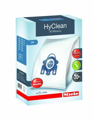 4 Staubsaugerbeutel Miele GN HyClean 3D für Miele Complete C3 PowerLine