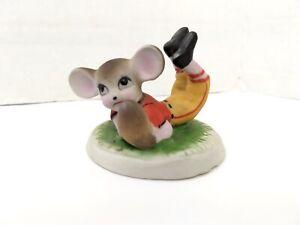 Porcelain Mouse Figurine Football Mice Price Import Taiwan Vintage