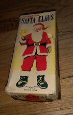 vintage  Mechanical Santa Claus figure toy with original box Christmas antique