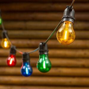 LAMAPADINA LAMPADINE A CATENA PROLUNGABILE DA ESTERNO 5 MT VINTAGE LUCE CALDA MU