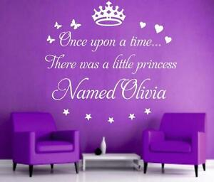 v20-Once-upon-a-time-personaized-princess-girl-name-wall-art-Sticker-Decal
