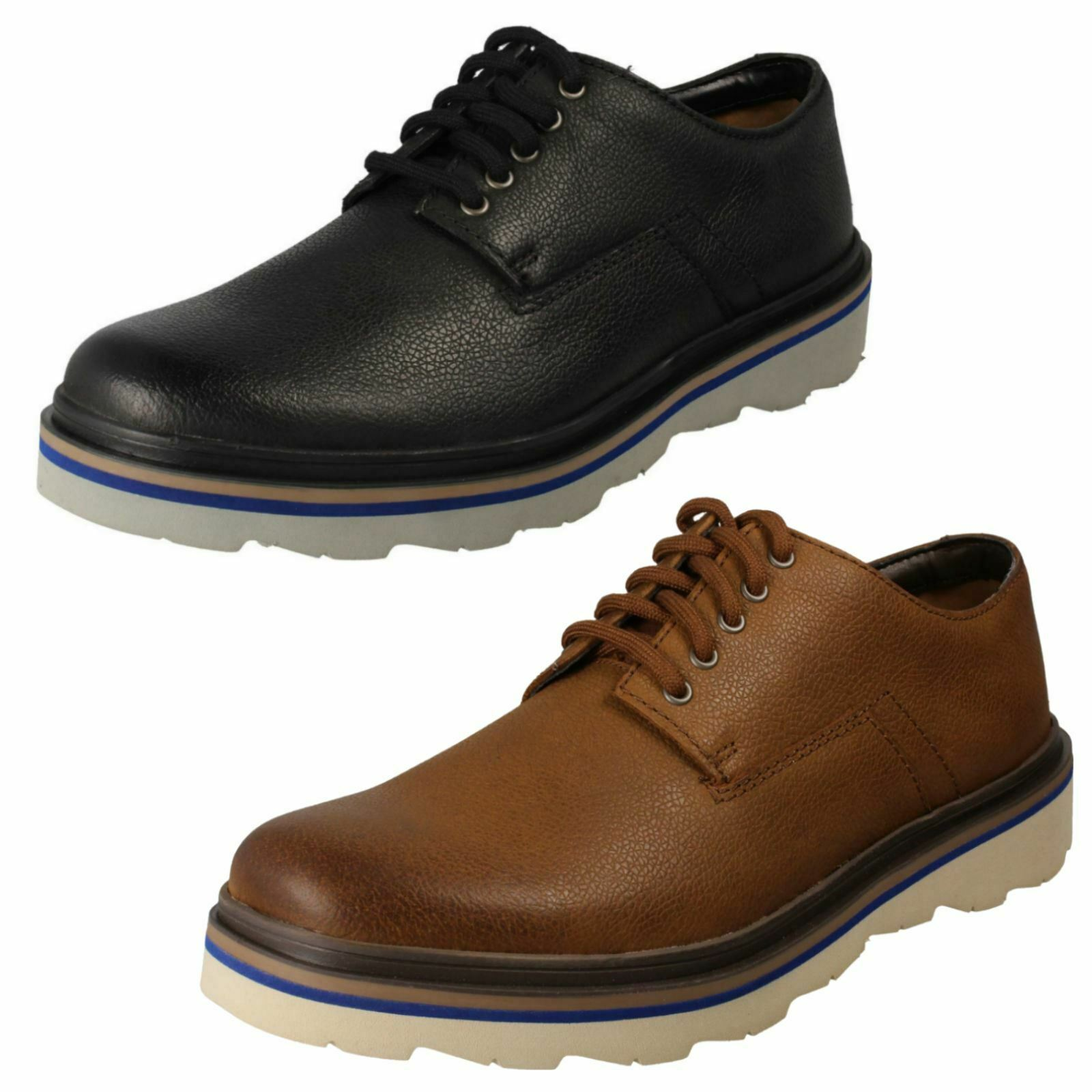 Mens Clarks Smart Casual Lace-Up schuhe 'Frelan Edge'
