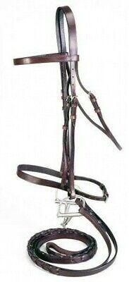 Raised Rubber Grip Black Silver Fox English Bridle Reins