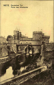 Metz-Lothringen-France-CPA-AK-1914-gelaufen-Deutsches-Tor-Porte-des-Allemands