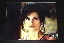 PENELOPE CRUZ SIGNED AUTOGRAPH SEDUCTIVE EYES DARK STARE HOT BABE 8x10 PHOTO COA