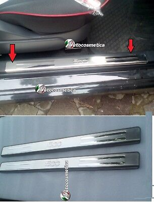 Chrome Stainless Steel Inner Door Sill Covers Set of 2