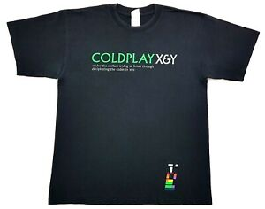 Coldplay-X-amp-Y-Under-The-Surface-Tee-Black-Size-Large-Mens-T-Shirt