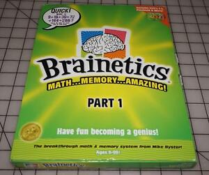 Brainetics Part I, Math & Memory Learning System, Mike Byster NEW Sealed