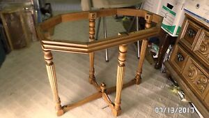 "2428M FANCY Occasional Table 4 Leg Base Pedestal 16x28x24"" Tall w/Skirt Apron A+"