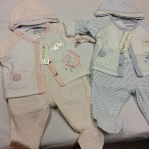 chaqueta y sombrero pantalones Bebé prematuro Chicas Chicos-Suave 4 piezas Conjunto de Regalo-T-Camisa