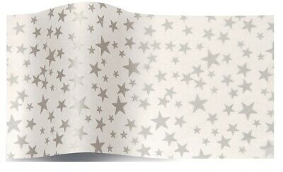 Silver Spotty Spots Dots Tissue Paper Acid Free Gift Wrap Sheets 35x45cm