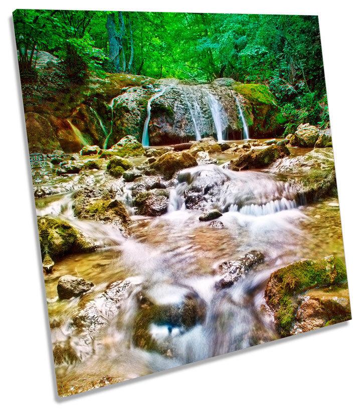 MOLLA paesaggio bosco fiume piazza CANVAS WALL ART PICTURE PRINT
