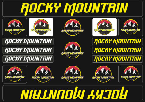 Rocky Mountain  Bicycle Frame Decals Stickers Graphic Adhesive Set Vinyl Yellow
