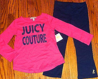 JUICY COUTURE AUTHENTIC GIRLS BRAND NEW 2Pc SET ORIGINAL DRESS SUIT Size 4T, NWT