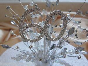 60th Diamond Wedding Anniversary Birthday Diamante Crystal Cake ...