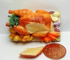 1:12th Dollhouse Miniatures Food Roast Turkey