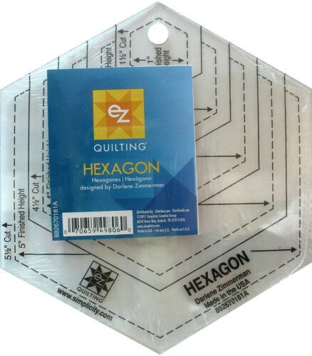 Modello HEXAGON 1.5-5.5 Cut-multi taglia-EZ semplicità-Patchwork Quilting